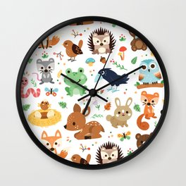 Woodland Animal Wall Clock