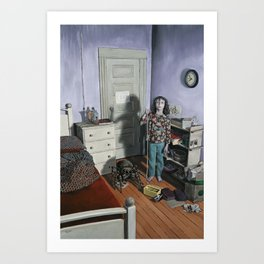 Girl with Jumping Spider Art Print