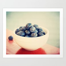 blueberry bush Art Print