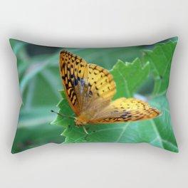 Great Spangled Fritillary Butterfly Rectangular Pillow