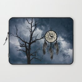 Black Bird Crow Tree Dream Catcher Night Moon A082 Laptop Sleeve