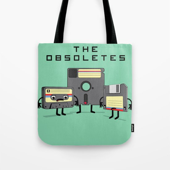 The Obsoletes (Retro Floppy Disk Cassette Tape)  Tote Bag
