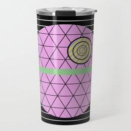 Death Star (Abstract, pastel, geometric artwork) Travel Mug