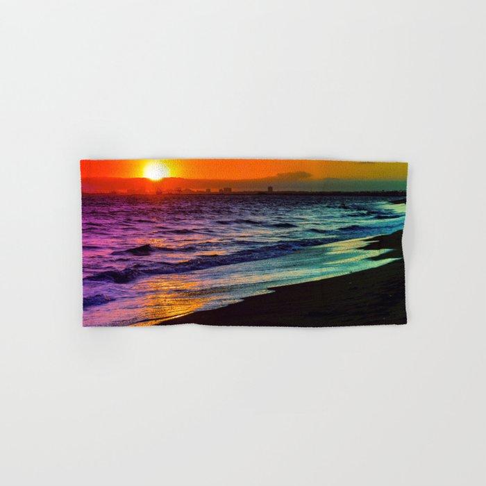 Rainbow Sunset Hand & Bath Towel