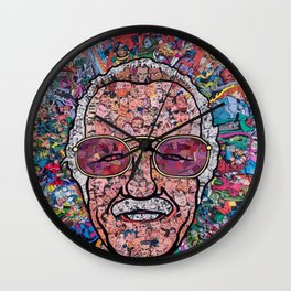 Stan Lee Mosaic Wall Clock