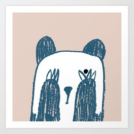 No peeking panda Art Print