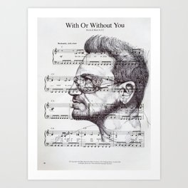 With Or Without You Art Print
