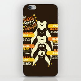 The Coolest Bear on Earth iPhone Skin