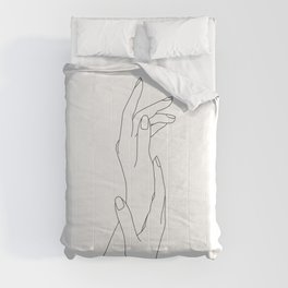 Hands line drawing illustration - Dia Comforters