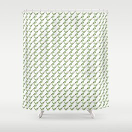 Music, Instrument, Guitare, green, pattern, Drawing, BebiCervin Shower Curtain