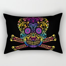 Decorative Candy Skull Rectangular Pillow