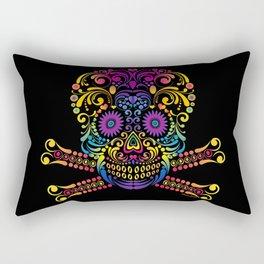 Decorative Candy Skull Rectangular Pillow