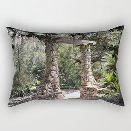 through the arch Rectangular Pillow