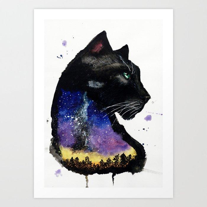 Galaxy Panther Art Print