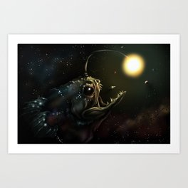 You Never Know What's Out There... Art Print