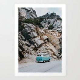 Classic Campervan Adventures Art Print