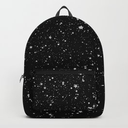 Glitter Stars2 - Silver Black Backpack