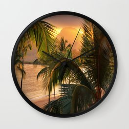 Kauai Tropical Island by OLena Art Wall Clock