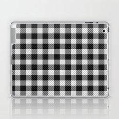 Sleepy Black and White Plaid Laptop & iPad Skin
