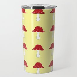Amanita muscaria mushroom pattern Travel Mug