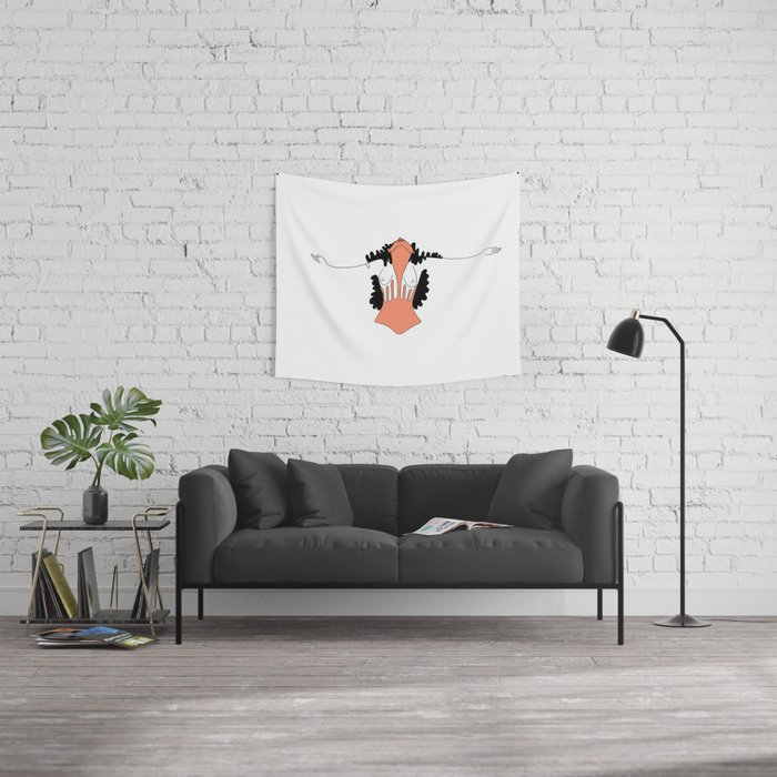 What you feel when you are free Wall Tapestry