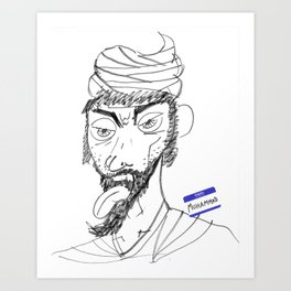 Sketchy Prophet Art Print