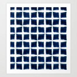 Shibori Blocks Art Print