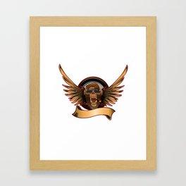 Monkey with sunglasses Framed Art Print