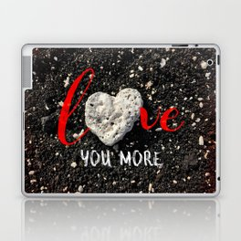 """Love You More"" Hawaii Beach with Coral Heart Photo Laptop & iPad Skin"