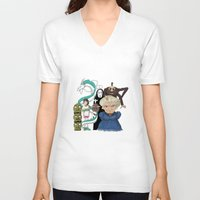 spirited away V-neck T-shirts featuring Spirited Away by MegThebeau
