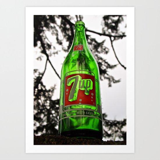 Classic 7 Up bottle Art Print