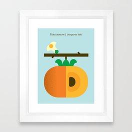 Fruit: Persimmon Framed Art Print