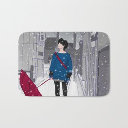 In The Snow Bath Mat