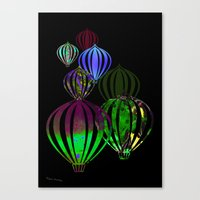 ballon Canvas Prints featuring Ballon by Lydia Wienberg