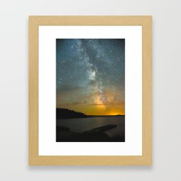 Milky Way Galaxy in Manitoba Framed Art Print