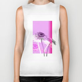 flowers are flowers and pink is the warmest color Biker Tank
