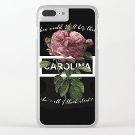 Harry Styles Carolina graphic artwork Clear iPhone Case