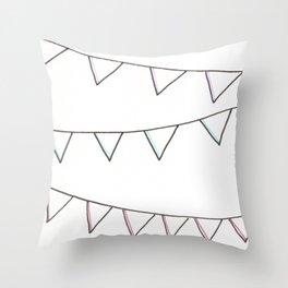 Salutations, Bunting Flags! Throw Pillow