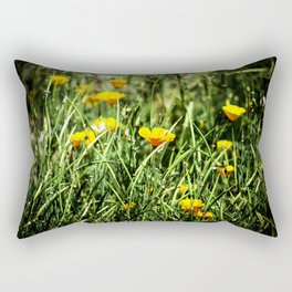 Little Orange Flowers Rectangular Pillow