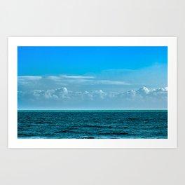 Cloudy Blue Sky Art Print