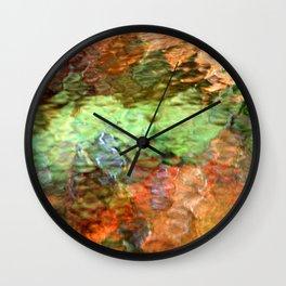 Abstract Water Reflection Wall Clock