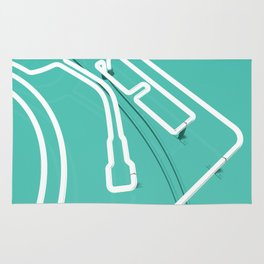Neon Turntable 3 - 3D Art Rug