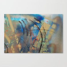 Retrollage 10.. Canvas Print
