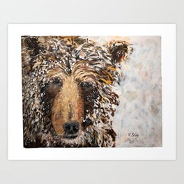 The Ice Bear Art Print