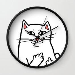 Naughty Cat Wall Clock