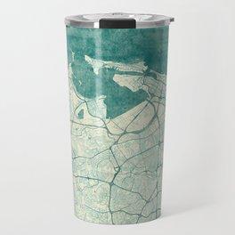 San Juan Map Blue Vintage Travel Mug