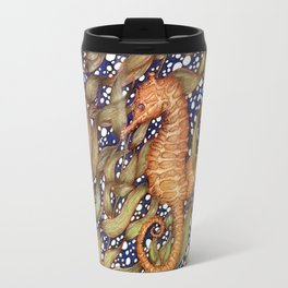 Seahorse in the Kelp Forest | Color Travel Mug