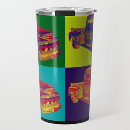 Colorful 1951 Ford F-1 Pickup Truck Pop Art  Travel Mug
