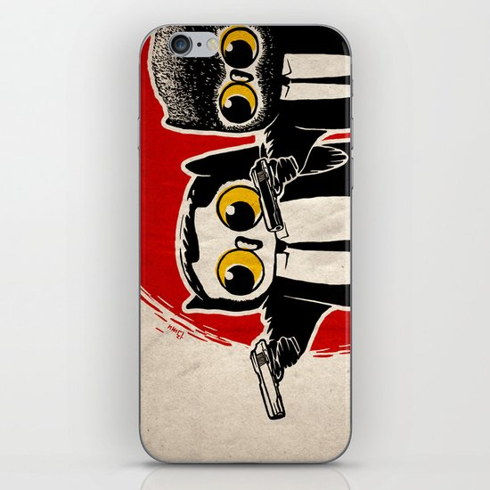 Owls Pulp Fiction iPhone & iPod Skin