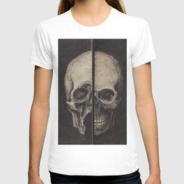 STUDY OF HUMAN SKULL (INSPIRED BY LEONARDO DA VINCI) T-shirt